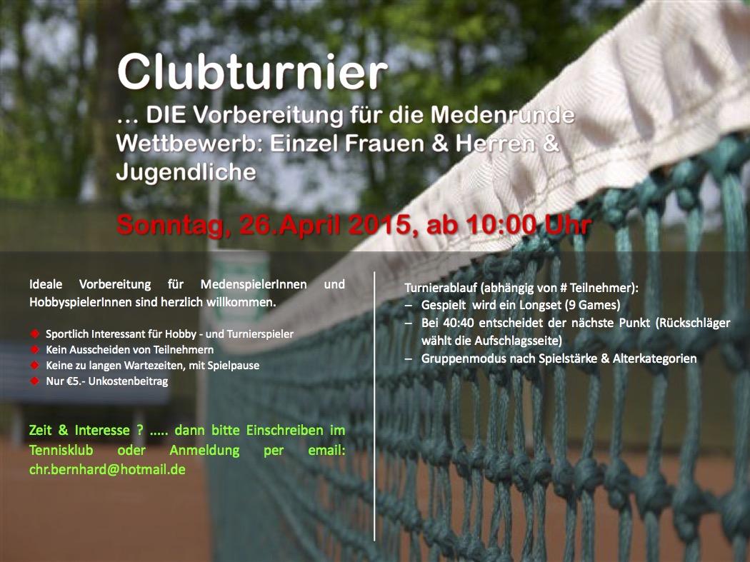 Clubturnier 2015